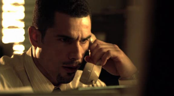 Louis Cruz taking a call